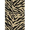 Well Woven Kings Court Black Zebra Animal Print Rug