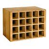 Rustic Retreat Bordeaux Wine Rack Insert for Console Table in Medium Oak Stain and Satin Lacquer