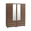Home Etc Diosa 4 Door Wardrobe with 2 drawers and mirrors