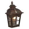 House Additions Bolta 1 Light Outdoor Wall Lantern in Light Brown