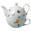 Kathy Davis Butterflies Promise 2 Piece Tea for One