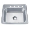 "Wells Sinkware Speciality Series 25"" x 22"" ADA Topmount Single Bowl Kitchen Sink"