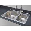 """Wells Sinkware Chicago Series 33"""" x 22"""" 70/30 Topmount Kitchen Sink"""