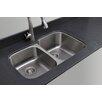 """Wells Sinkware Craftsmen Series 32.13"""" x 20.63"""" 40/60 Double Bowl Kitchen Sink"""