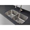 """Wells Sinkware Craftsmen Series 32.5"""" x 32.13"""" Double Bowl Kitchen Sink"""