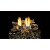 "Majestic Fireplace 6 Piece 24"" Fiber Ceramic Blazing Oak Log Set for use with TPB"