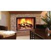 """Majestic Fireplace 44"""" Herringbone Brick Radiant Wood Burning Fireplace"""