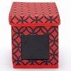 nexxt Design Write On Lattice Printed Fabric Storage Boxes (Set of 3)