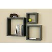 nexxt Design Cubbi 3 Piece Wall Shelf Set
