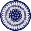"Polmedia Polish Pottery 9"" Plate with Holes"