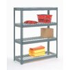 Nexel Wire Deck Rivet Lock 4 Shelf Shelving Unit