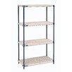 Nexel Nexelite Plastic Mat 4 Shelf Shelving Unit Starter