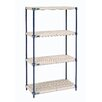 Nexel Solid Plastic 4 Shelf Shelving Unit