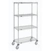Nexel Wire Shelf Stem Caster Truck 4 Shelf Shelving Unit