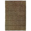 Rug Expressions Flat Weave Chocolate/White Area Rug