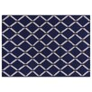 Rug Expressions Flat Weave Royal Blue/Ivory Area Rug