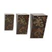 EC World Imports 3 Piece Decorative Metal Wall Shelves Set