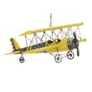 EC World Imports Handcrafted Antique Die Cast Metal Bi-Plane Airplane Toy Replica