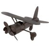 EC World Imports Vintage Toy Replica Handcrafted Metal Airplane Sculpture