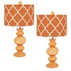 "EC World Imports Urban Solar Glass 26"" Table Lamp with Drum Shade (Set of 2)"
