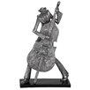 EC World Imports New Orleans Mardi Gras Jazz Cello Musician Figurine