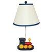 "EC World Imports Urban Choo Choo Train Kids 21"" Table Lamp with Bell Shade"