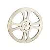 """EC World Imports Hollywood Vintage 42"""" Metal Film Reel Home Movie Theater Accent Art Wall Decor"""