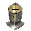 EC World Imports Antique Replica Medieval Early Renaissance Armored Gilded Knight Close Helmet