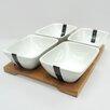 Linen Depot Direct Sandra Venditti 5 Piece Porcelain Appetizer Set