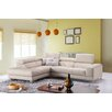 J&M Furniture Italian Leather Left Hand Facing Chaise Sectional