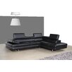 J&M Furniture Italian Leather Sectional In Right Hand Facing