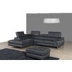J&M Furniture Italian Leather Sectional Left Facing Chaise