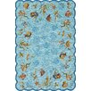 Outdoor Escape Aqua Coral Dive  Rug
