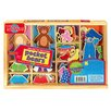 T.S.Shure 42 Piece Pocket Bears Wooden Magnetic Dress Up Set