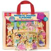 T.S.Shure 31 Piece Princess, Ballet and Fairies Magnetic Wooden Playboard Set