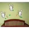 Pop Decors Bunnies Love Carrots Removable Vinyl Art Wall Decal