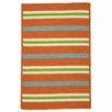 Colonial Mills Painter Stripe Tangerine Indoor/Outdoor Area Rug