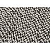 Outdoor Houndstooth Tweed Black Sample Swatch
