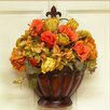 Floral Home Decor Fall Door Basket with Roses and Hydrangea