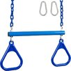 Swing Set Stuff Trapeze Bar with Rings and Coated Chain