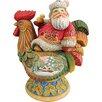 G Debrekht Derevo Country Rooster Santa Figurine