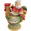 Hand-Crafted Country Rooster Santa Statue