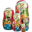 <strong>Russia 5 Piece Gift Bag Santa Nested Doll Set</strong> by G Debrekht