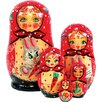 G Debrekht Russia 5 Piece Bunny Nested Doll Set