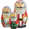 <strong>G Debrekht</strong> Russia 3 Piece Santa Angel Nested Doll Set