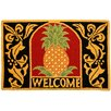 Homefires Kitchen Carefree Welcome Pineapple Gold/Black Rug