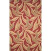 <strong>Ravella Red Leaf Outdoor Rug</strong> by Trans-Ocean Rug