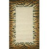 <strong>Seville Brown Tiger Border Rug</strong> by Trans-Ocean Rug
