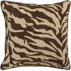 Surya Eye-catching Zebra Patterned Throw Pillow