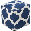 <strong>Surya</strong> Lavish Lattice Pouf Ottoman